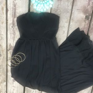 Emerald Sunday Strapless, Long, Black Dress